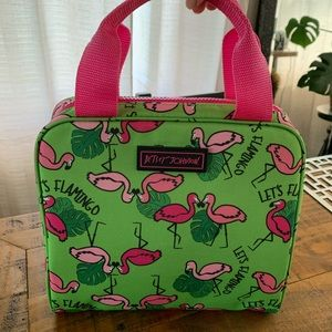 Betsey Johnson Flamingos and Monstera Leaves Lunch